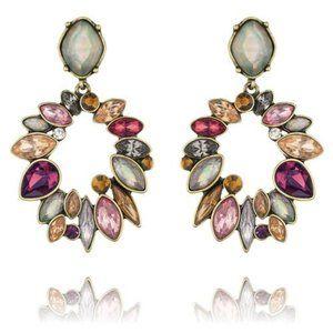 chloe + isabel | bouquet rouge statement earrings